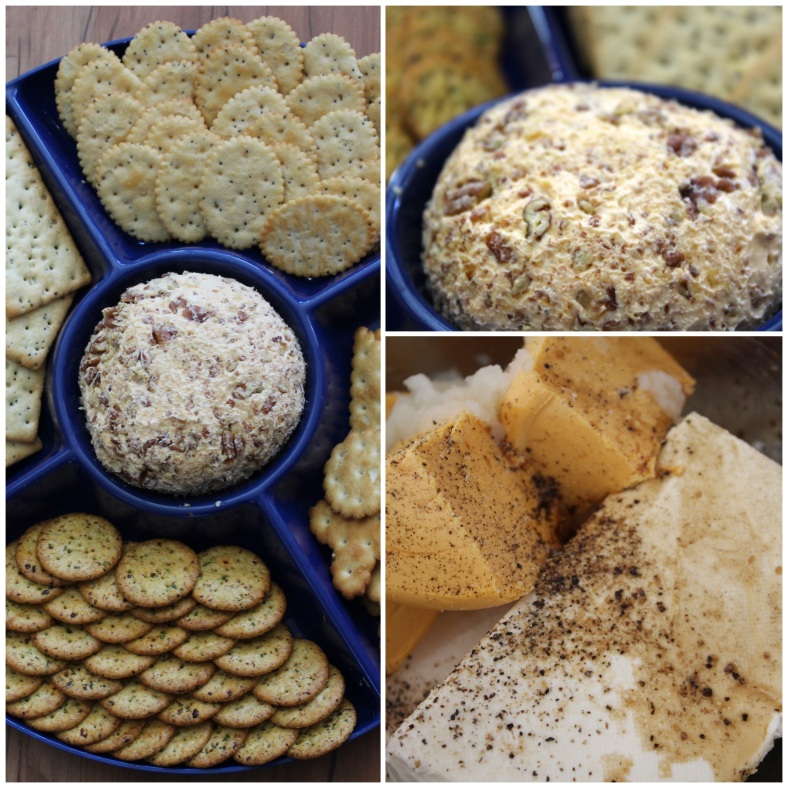 cheese ball collage